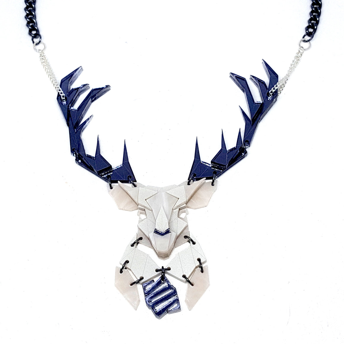Emperor Stag Necklace (Faint) by Sstutter