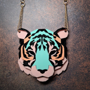 Tiger Head Necklace (Ambush) by Sstutter