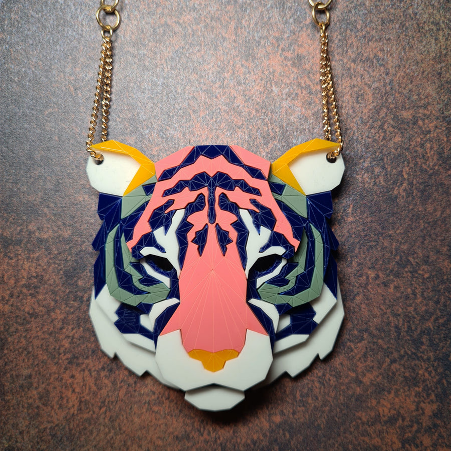 Tiger Head Necklace (Hype) by Sstutter