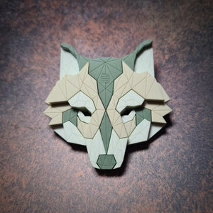 Wolf Head Brooch (Moorland)  by Sstutter