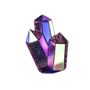 Textured Amethyst Brooch by Esoteric London
