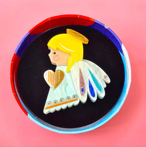 Little Angel Brooch by  Erstwilder x Pete Cromer