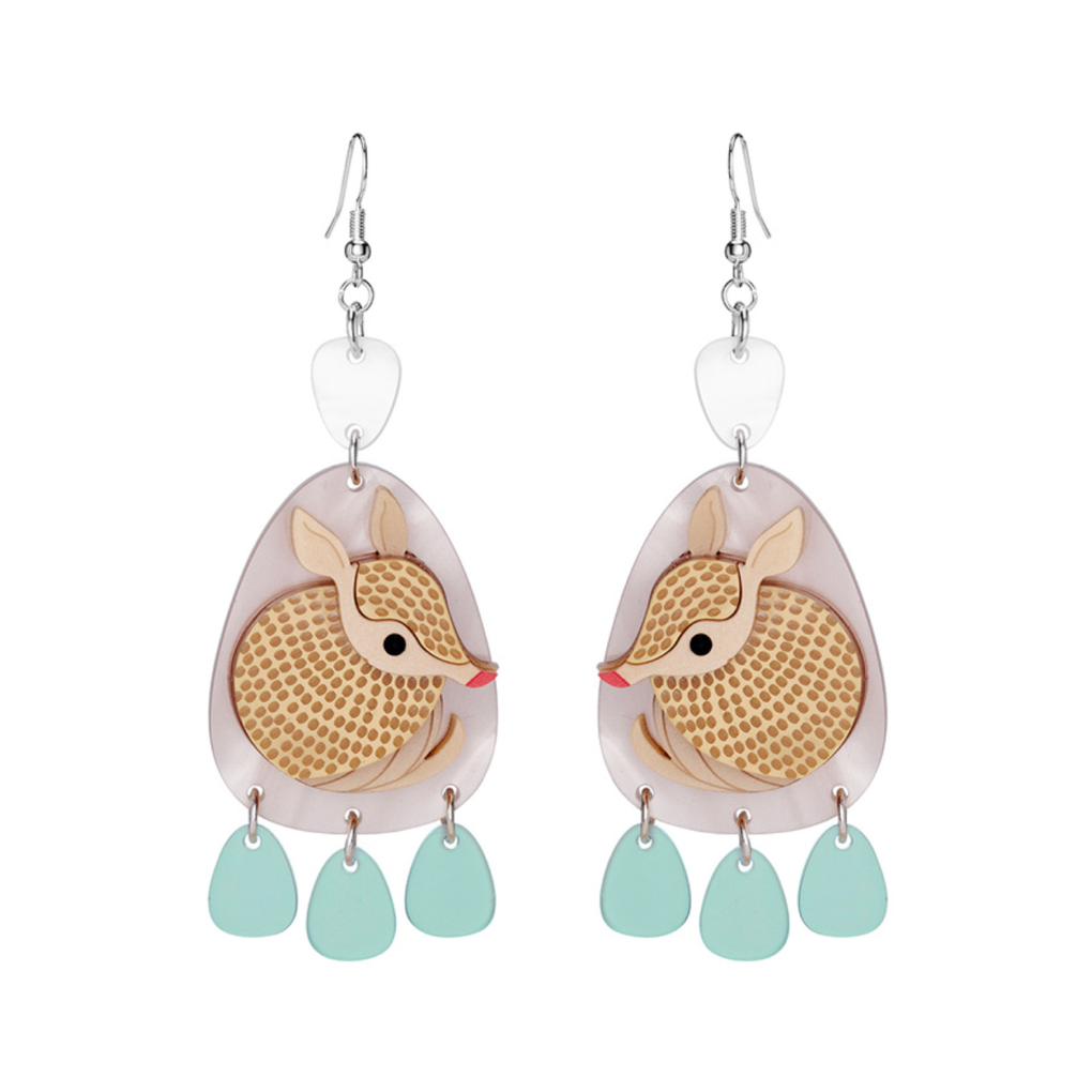 Armadillo Earrings by Little Moose