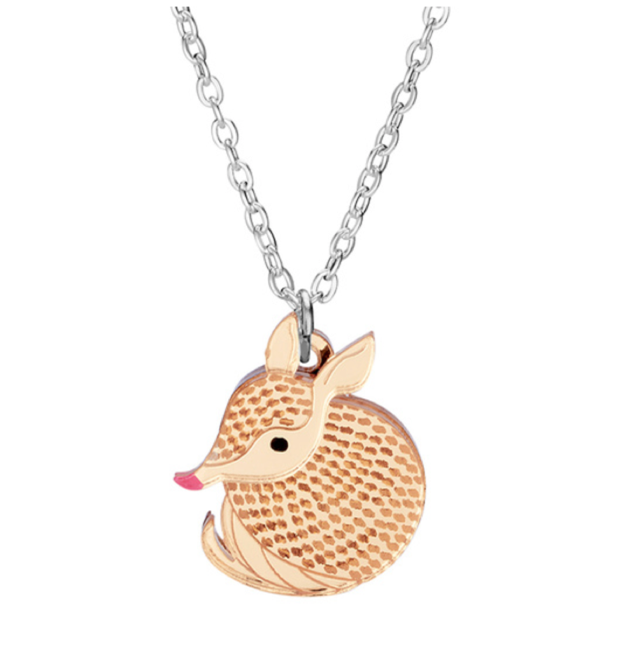 Armadillo Mini Necklace by Little Moose