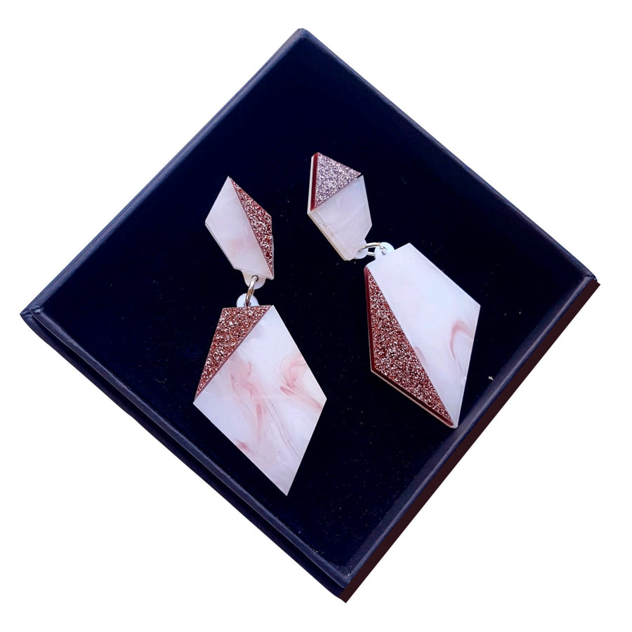 Asymmetric Geo Drop Earrings by Rosa Pietsch