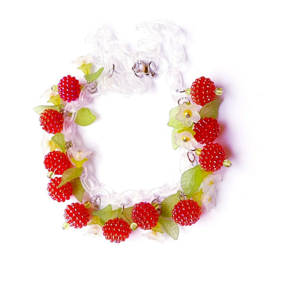 Luscious Raspberries Necklace by Summer Blue