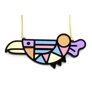 Abstract Bird Necklace by Designosaur