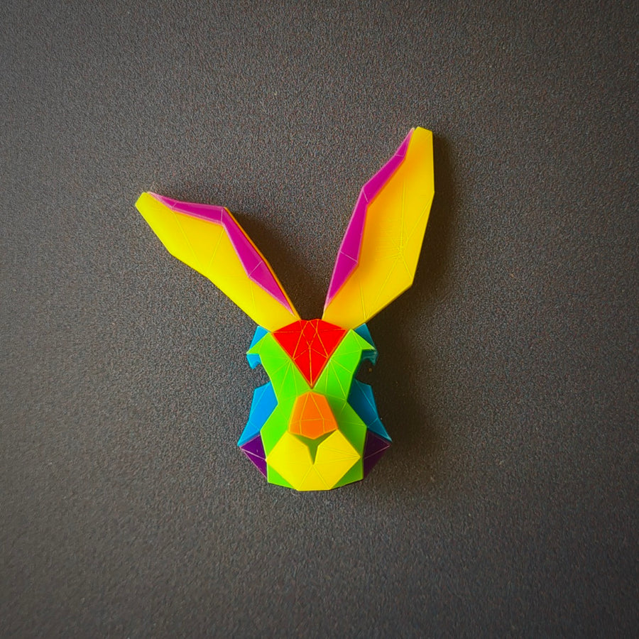 Bunny Brooch 'I Believe in Me' by Sstutter