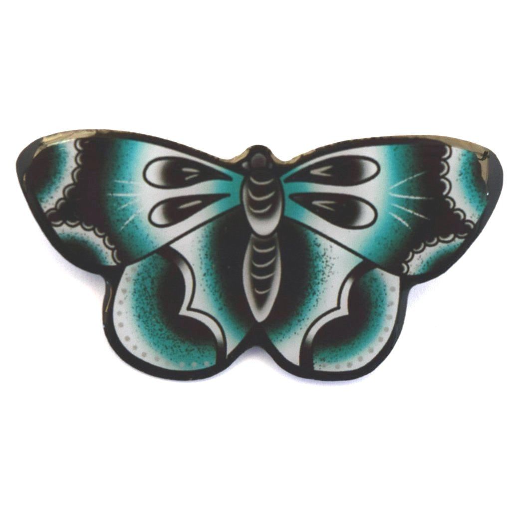 Blue Butterfly Brooch by Jubly Umph