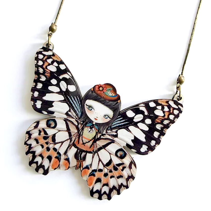 Butterfly Necklace by LaliBlue