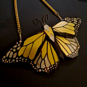 Monarch Butterfly Necklace (Lost City) by Sstutter