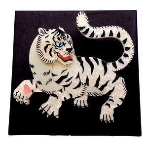 Byakko White Tiger of the East Brooch by Gory Dorky