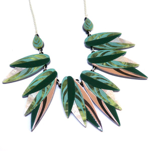 Calathea Leaf Large Statement Necklace by Rosa Pietsch
