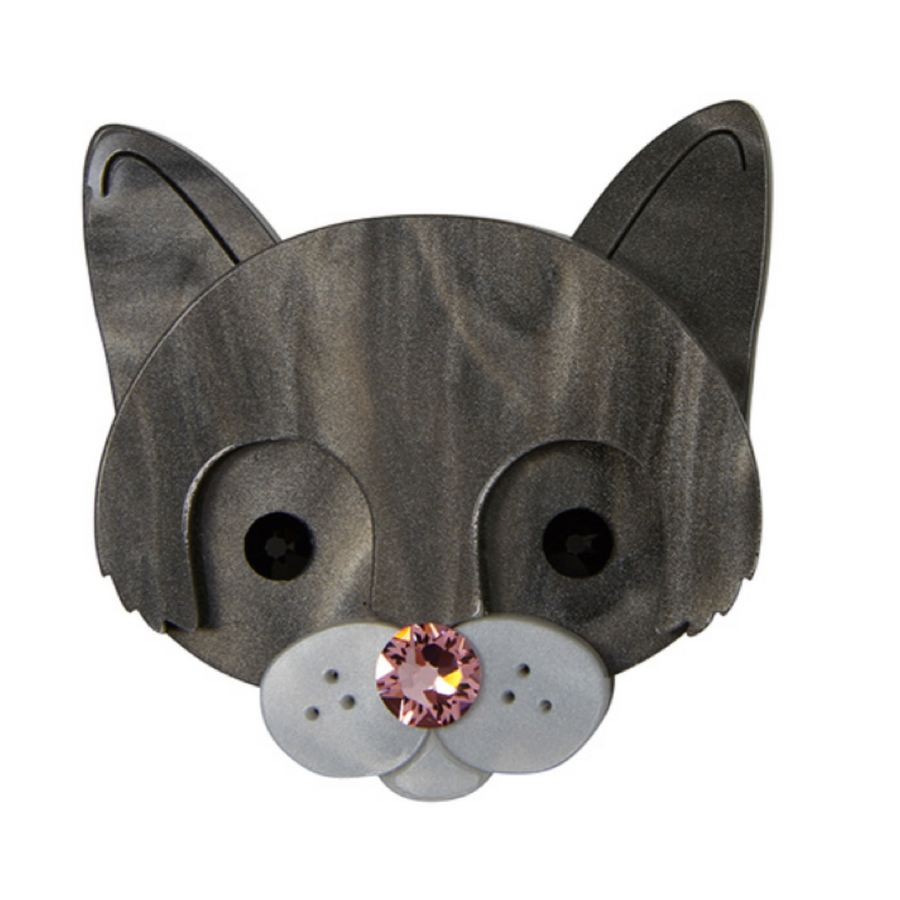 Cat Face Brooch by Little Moose