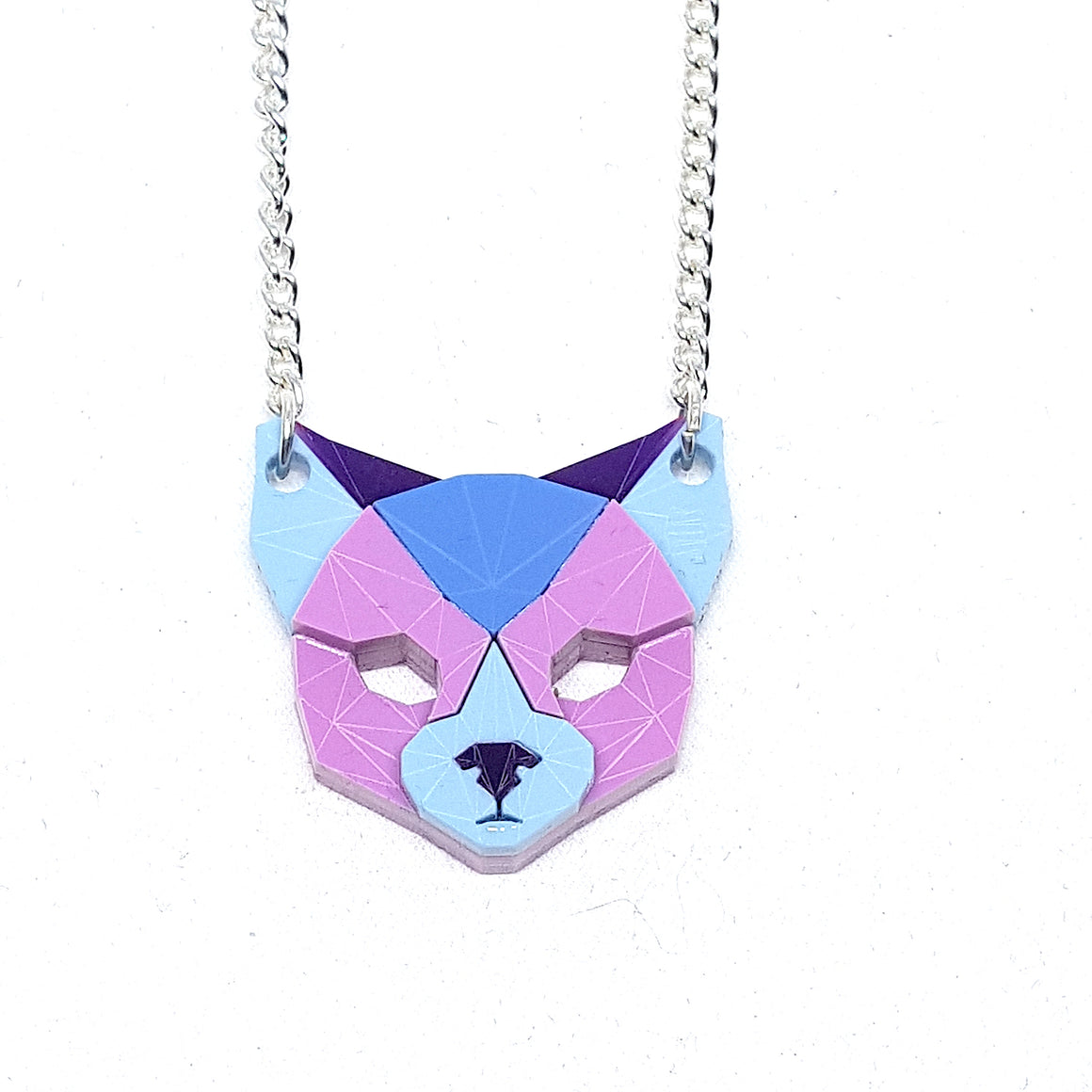 Cat Head Necklace (Flowers)  by Sstutter