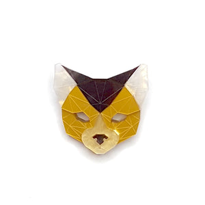 Cat Head Brooch (Lost City) by Sstutter