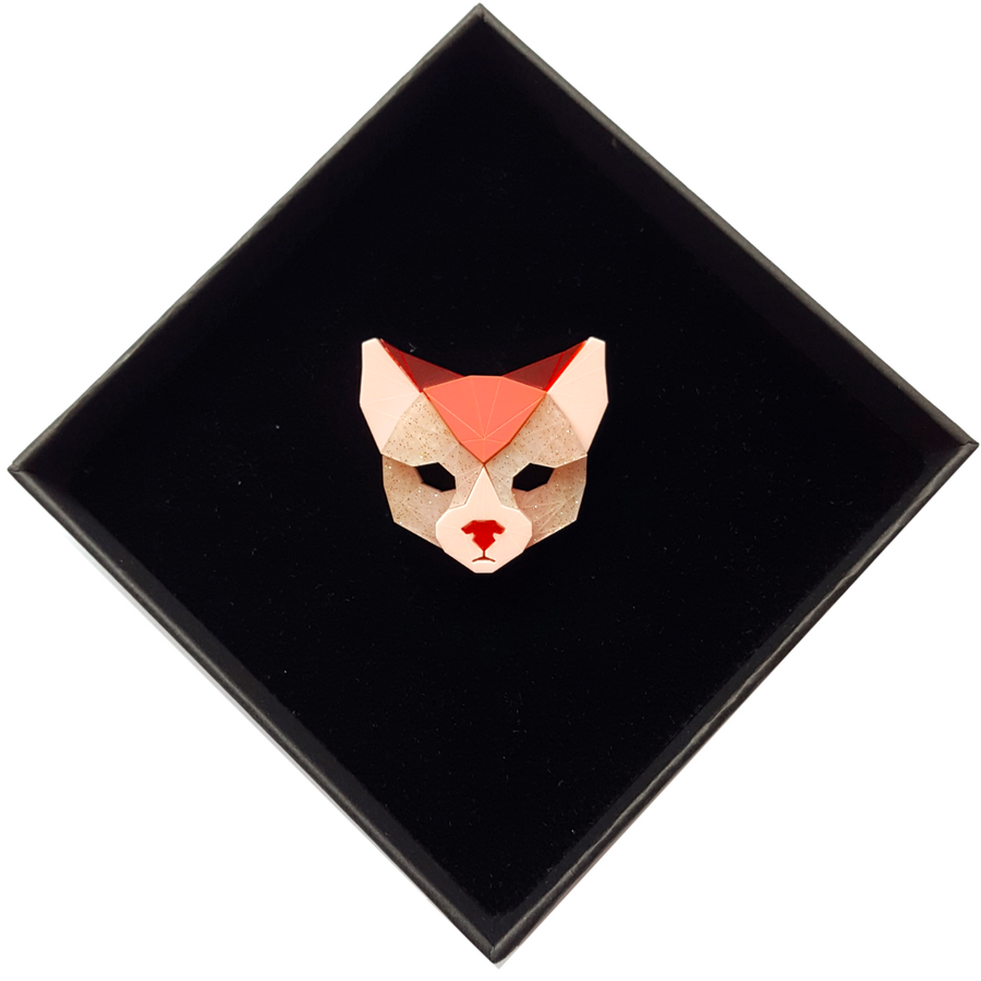 Cat Head Brooch (True Romance) by Sstutter