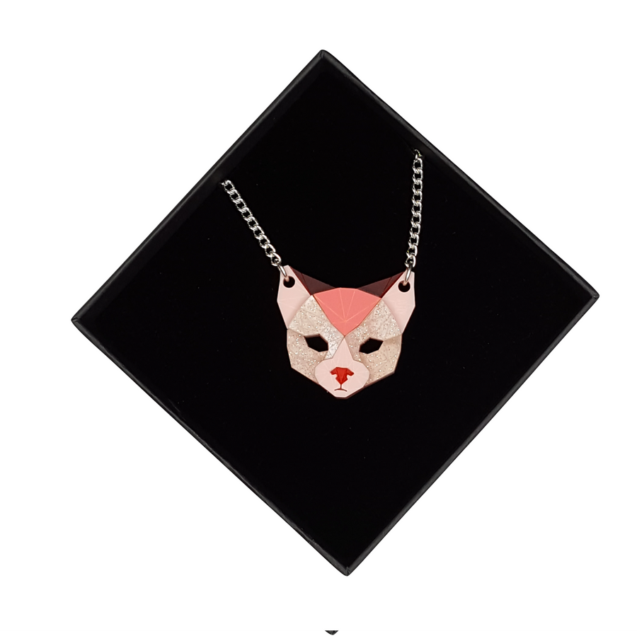 Cat Head Necklace (True Romance)  by Sstutter