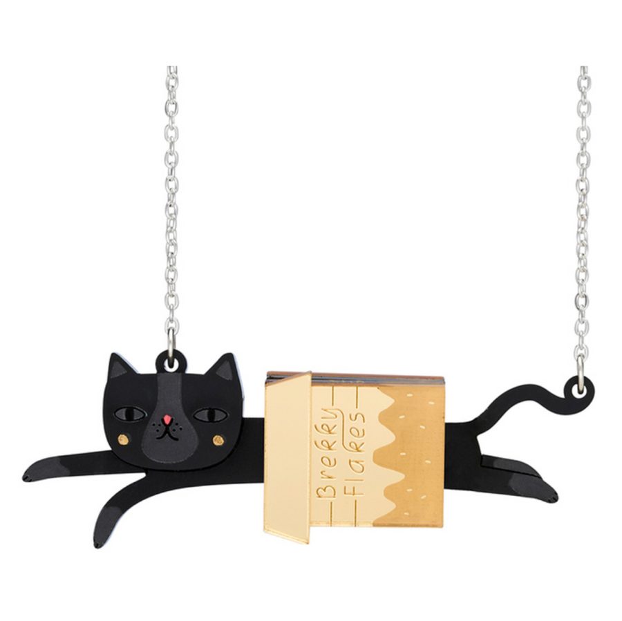 Cat in a Box Necklace by Little Moose