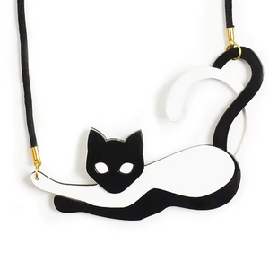 Two Tailed Cat Necklace by LaliBlue
