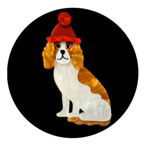 Wintertime Walkies Brooch by Erstwilder