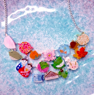 Wagashi Charms Necklace  by Gory Dorky
