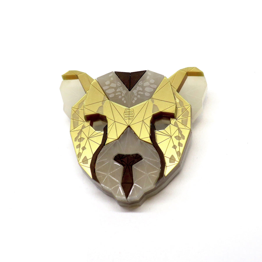Cheetah Head Brooch (Serenghetto) by Sstutter