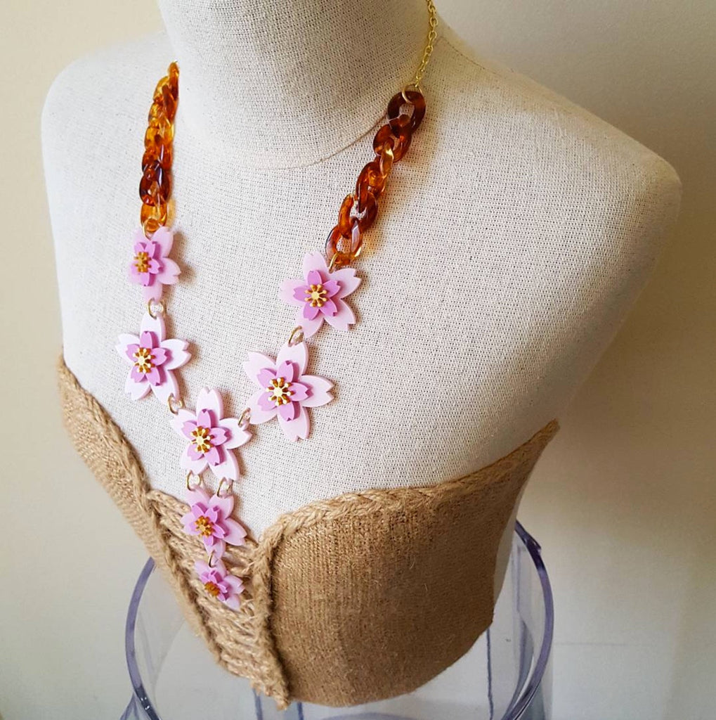 Cherry Blossom Necklace by Sugar and Vice