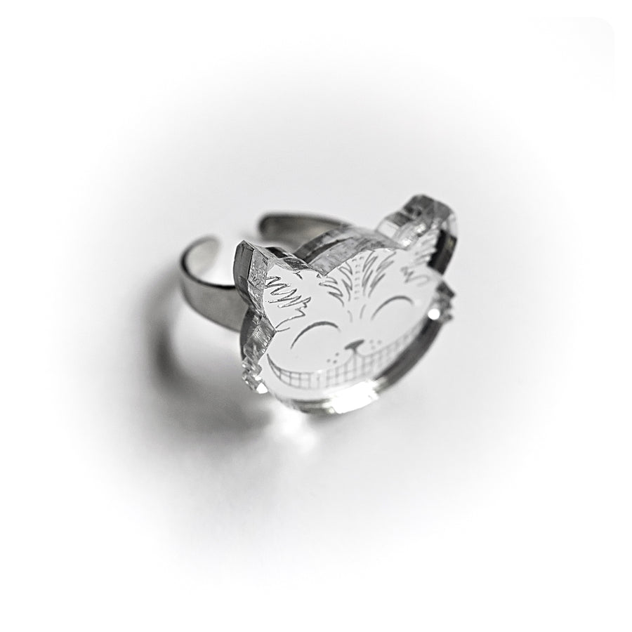 Cheshire Cat Silver Ring  by Little Moose