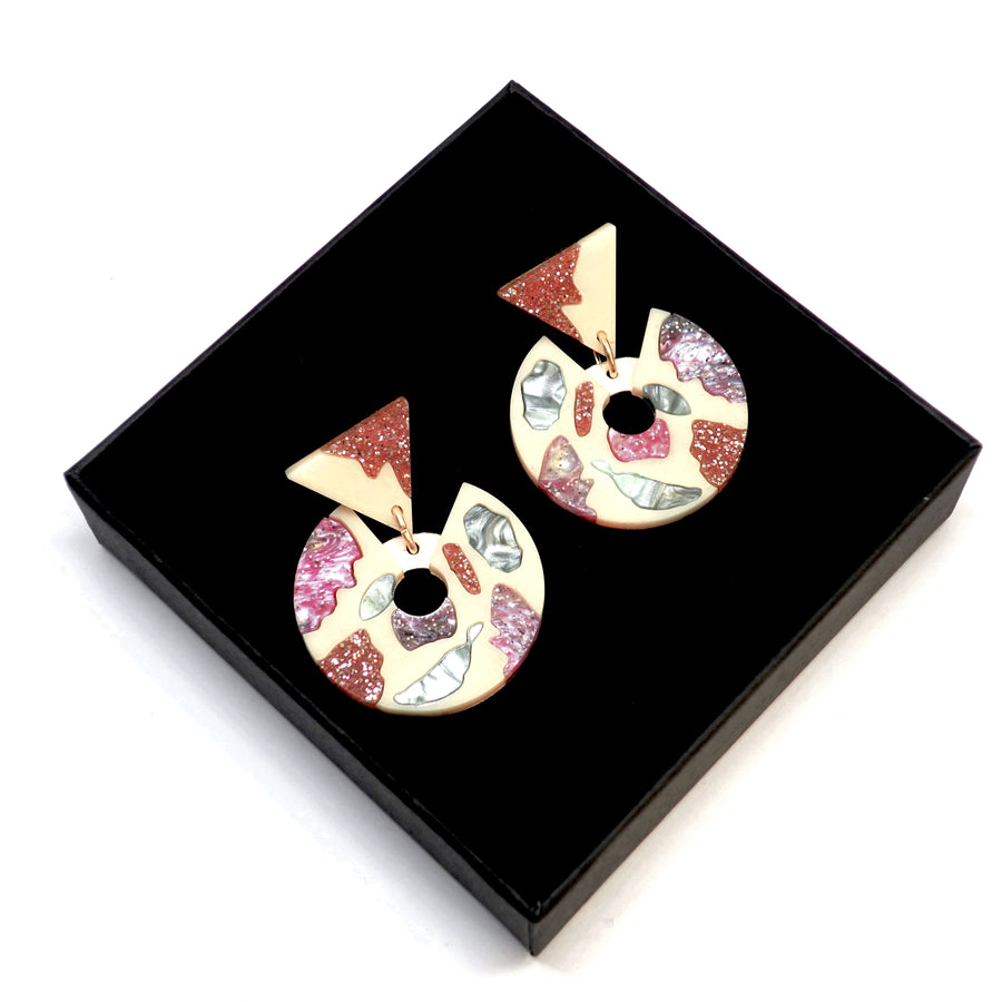 Terrazzo Curve Drop Earrings by Rosa Pietsch
