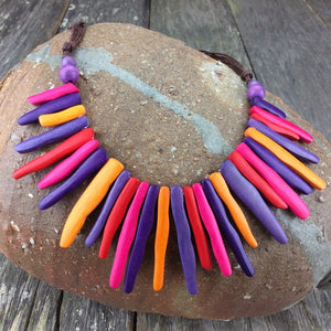 Daiquiri Delight Squiggle Sticks Necklace by Cool Coconut