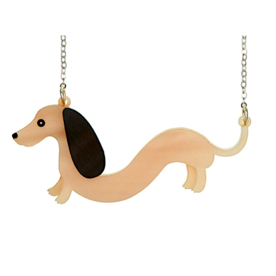 Sausage Dachshund Necklace by Little Moose