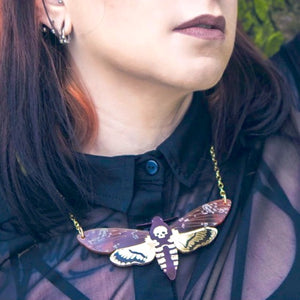 Death's Head Hawkmoth Necklace by Sugar and Vice