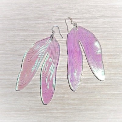 Dragon Fly Wings Earrings by Panika