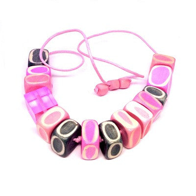 Lakapati Pink Necklace by Hopscotch