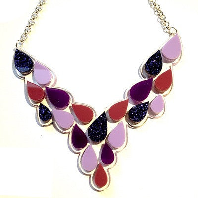Purple Rain Drops  Necklace by Sugar & Vice