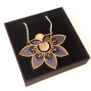 Etched Lotus Pendant by Rosa Pietsch