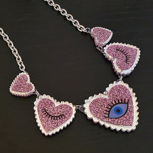 Eye Heart You Statement Necklace by No Basic Bombshell