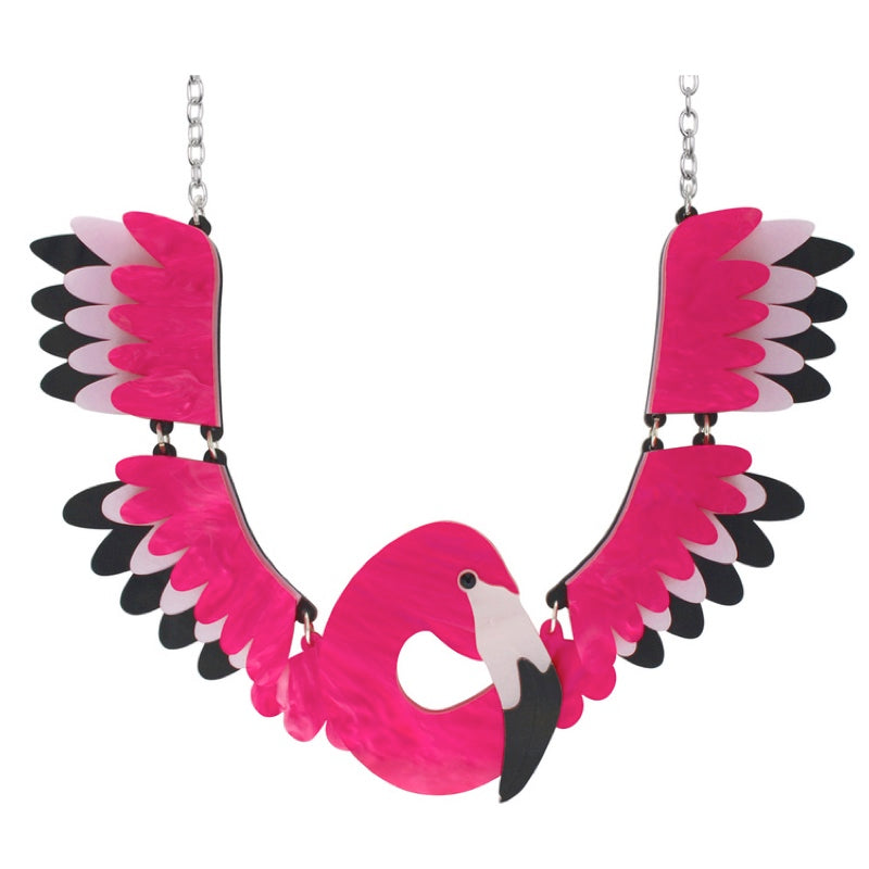 Flamingo Collar Necklace by Little Moose