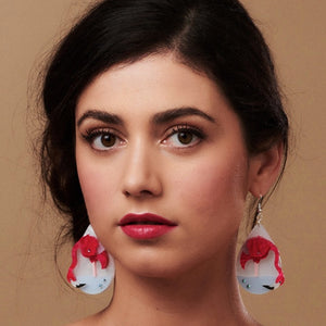 Flamingo Earrings by Little Moose