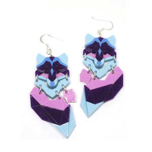 Demi Fox (Flowers)  Earrings by Sstutter