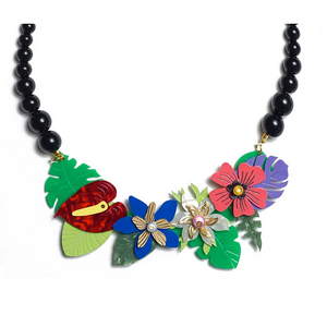 Flowers Necklace by LaliBlue