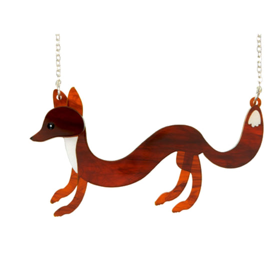 Sausage Fox Necklace by Little Moose