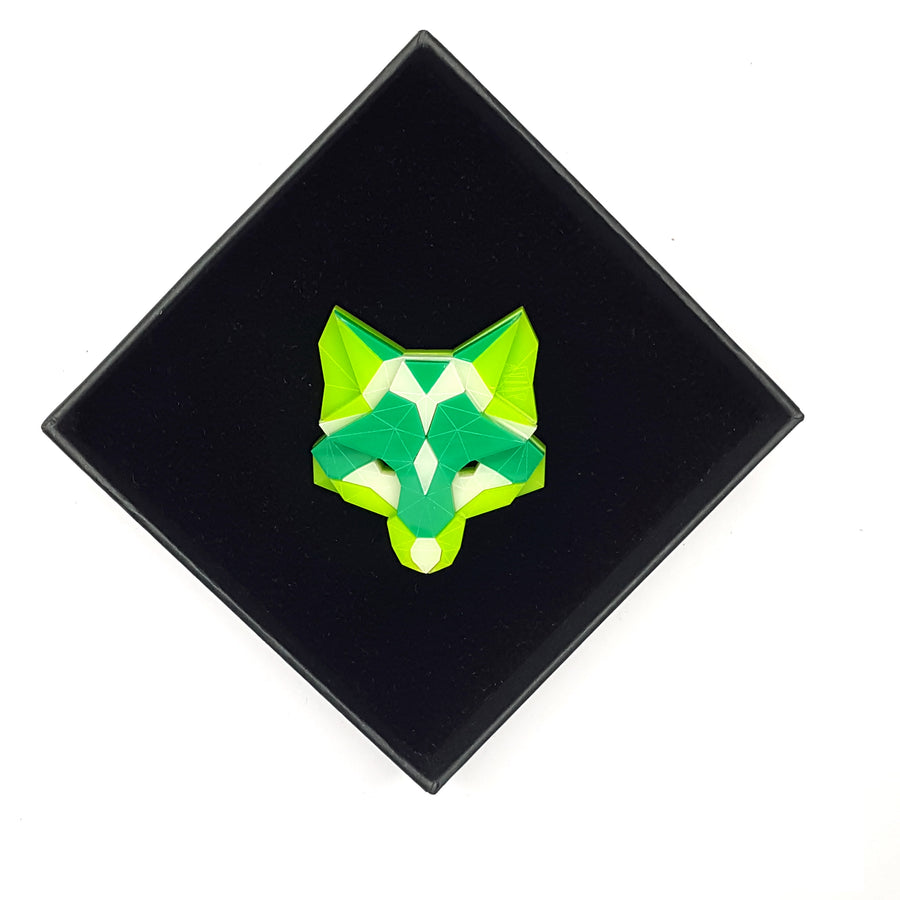 Fox Head Brooch (Fresh) by Sstutter