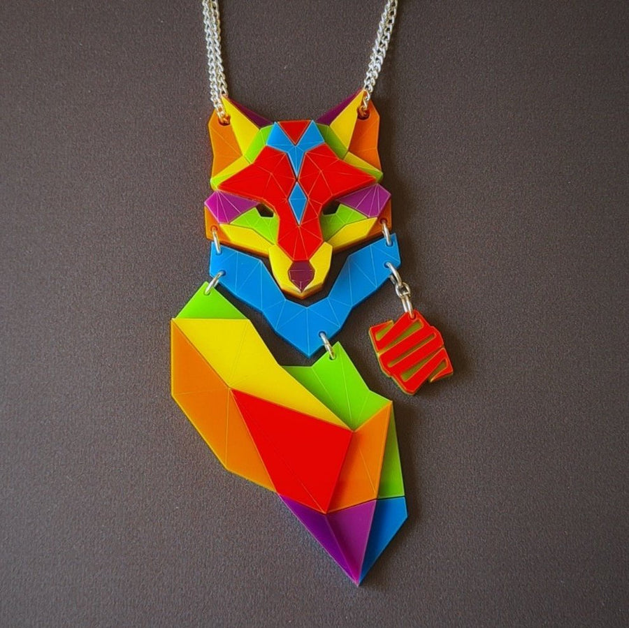 Fox Necklace 'I Believe in Me' by Sstutter