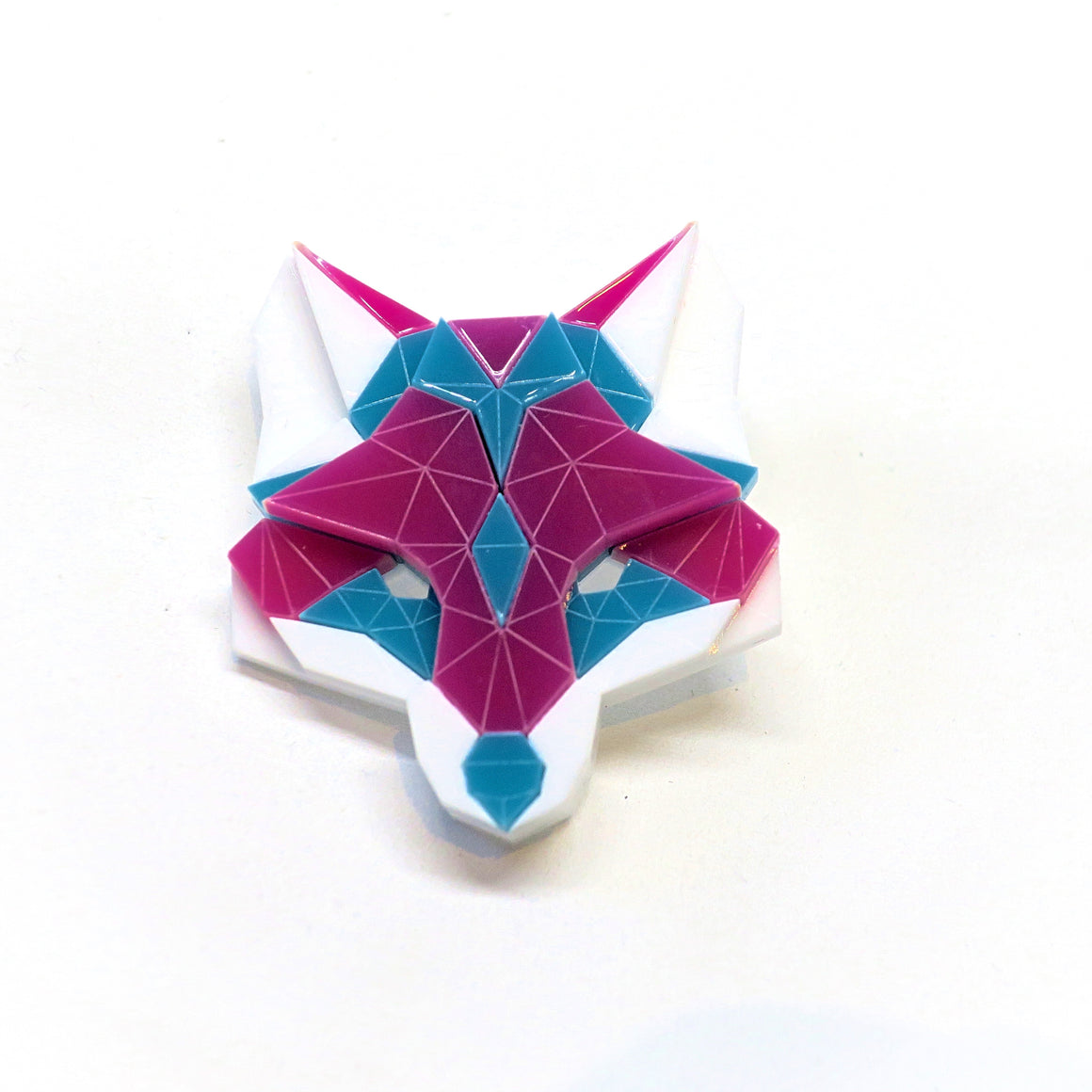 Fox Head Brooch (Vice) by Sstutter