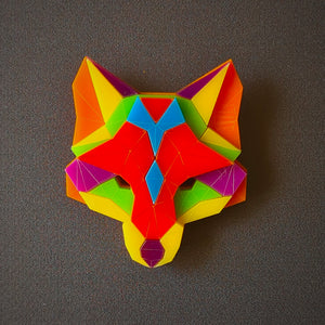 Fox Head Brooch 'I Believe in Me' by Sstutter