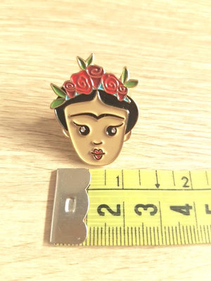Frida Kahlo Enamel Pin by Patch Press