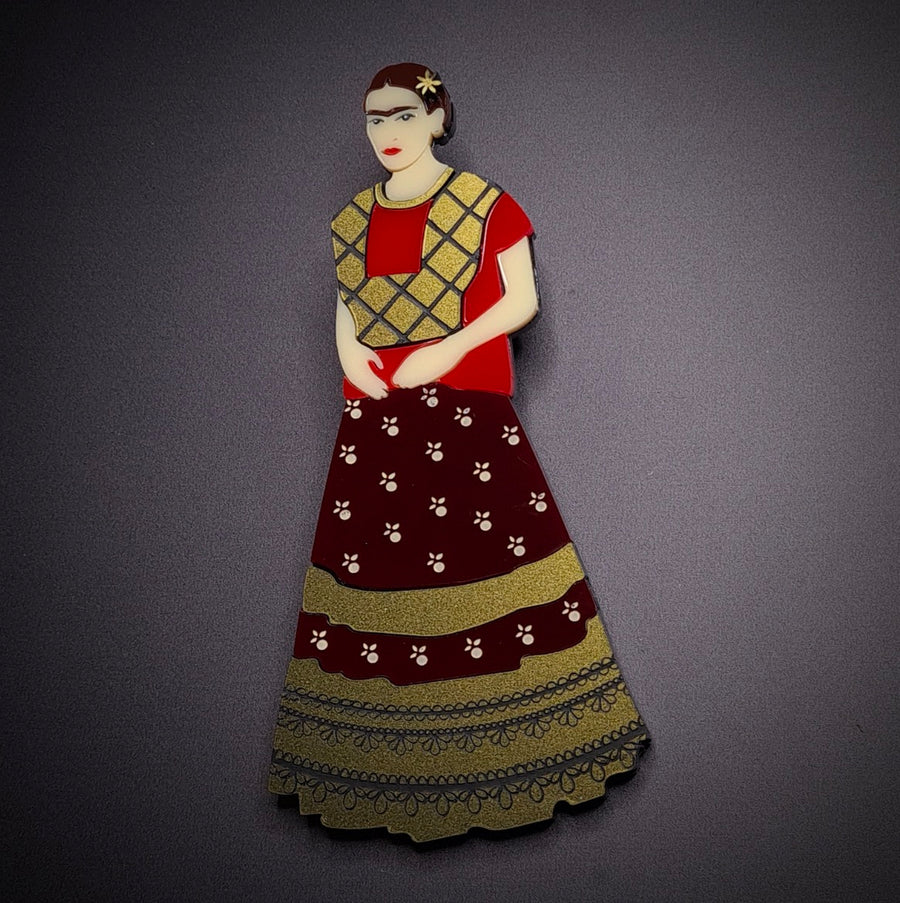 Frida Kahlo Brooch (Large) by Lou Taylor