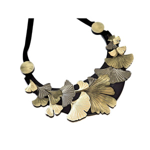 Ginkgo Leaf Large Statement Necklace by Rosa Pietsch